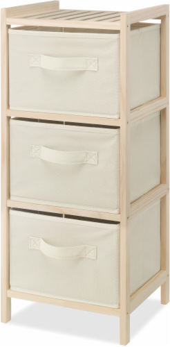 Whitmor 3-Drawer Storage Chest - Cream Perspective: front