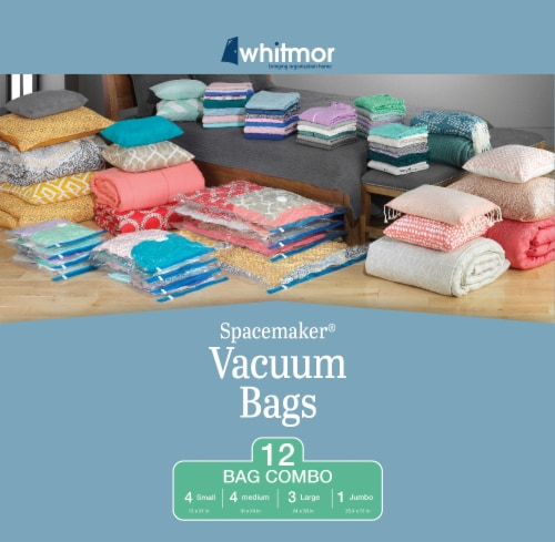 Whitmor Spacemaker™ Vacuum Bags - Clear/Blue Perspective: front