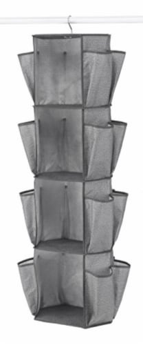 Whitmor Rotating Closet Organizer - Crosshatch Gray Perspective: front