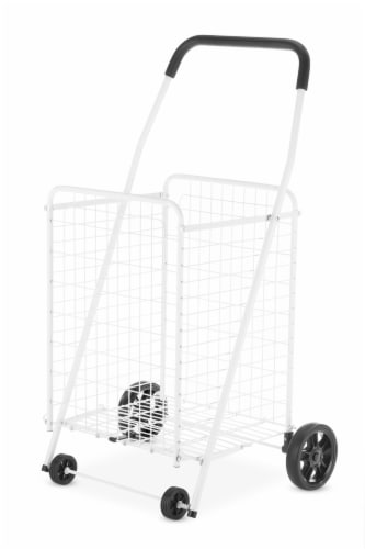 Whitmor Rolling Utility Cart - White Perspective: front