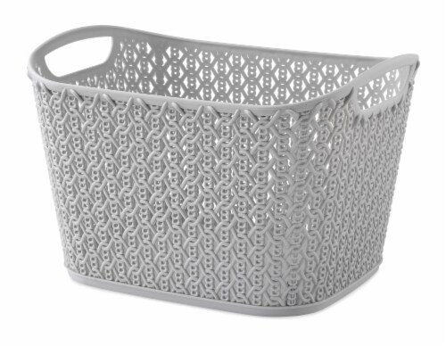 Whitmor Resin Form Tote - Flint Gray Perspective: front