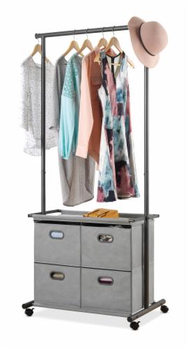 Whitmor 4-Drawer Garment Rack - Gunmetal Gray Perspective: front