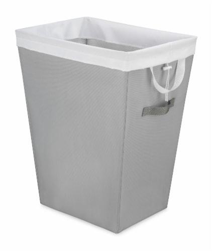 Whitmor Easycare Hamper & Laundry Bag - Gray/White Perspective: front