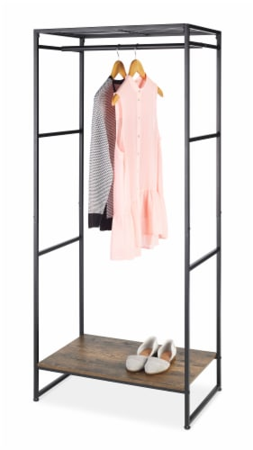 Whitmor Modern Industrial Wardrobe - Natural/Black Perspective: front