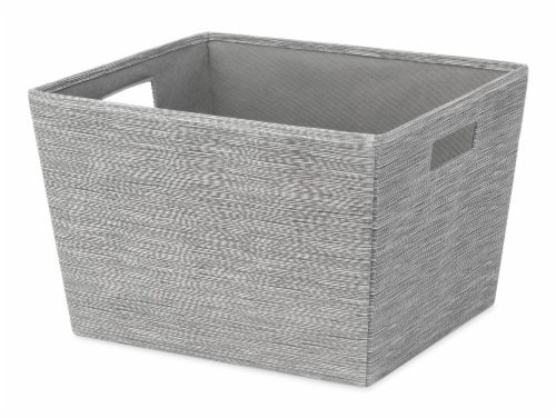 Whitmor Fabric Tote - Gray Perspective: front