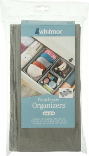 Whitmor Foldable Storage Drawer - Gray Perspective: front