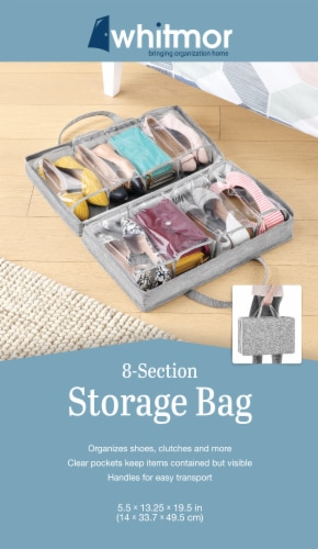 Whitmor Shoe and Clutch Underbed Storage Bag - Space Dyed Perspective: front