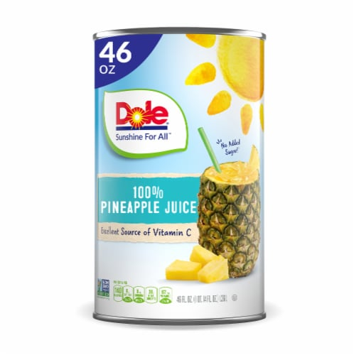 Dole® 100% Pineapple Juice Perspective: front