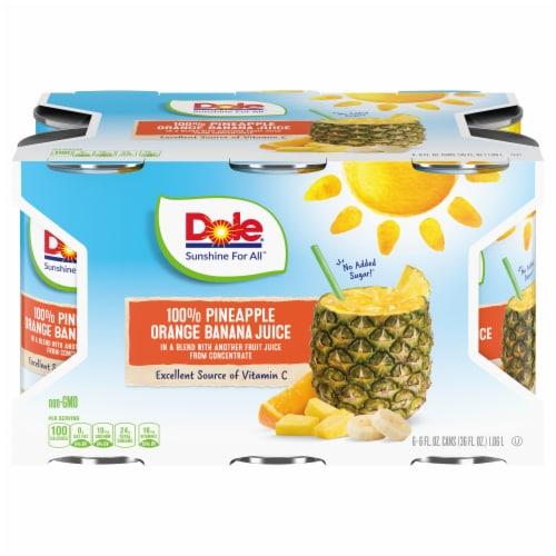 Dole 100% Pineapple Orange Banana Juice Perspective: front