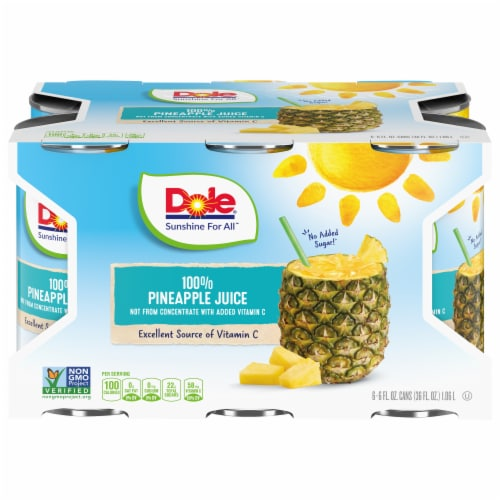 Dole 100% Pineapple Juice Perspective: front