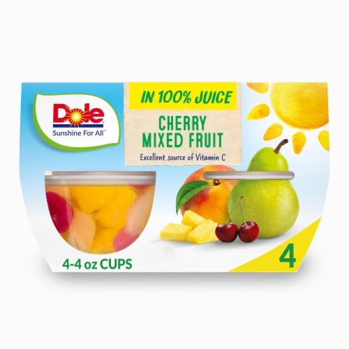 Dole Cherry Mixed Fruit in 100% Fruit Juice Perspective: front