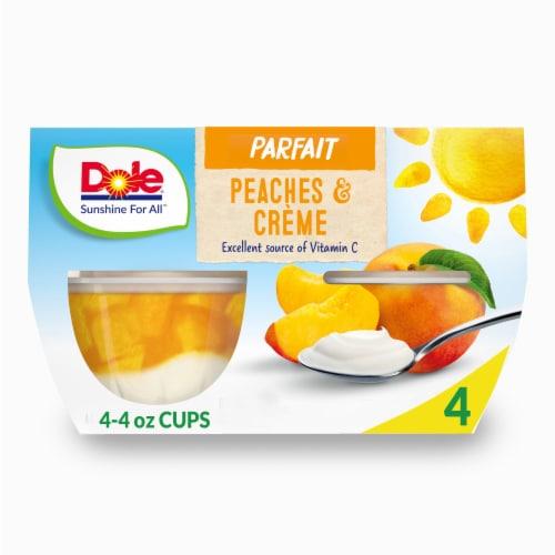 Dole Peaches & Creme Parfait Cups Perspective: front