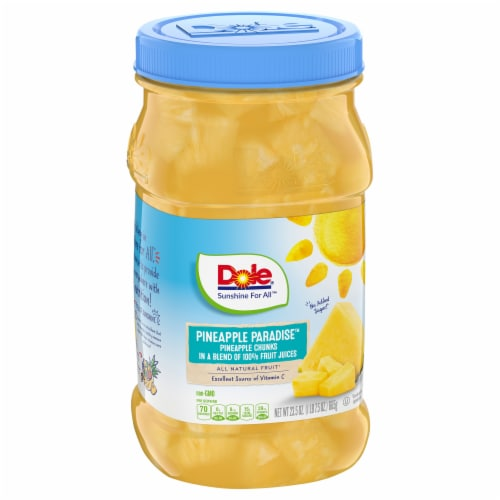 Dole Pineapple Chunks in 100% Pineapple Juice Perspective: front