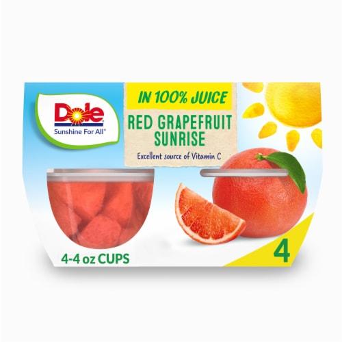 Dole Red Grapefruit Sunrise in 100% Fruit Juice Perspective: front