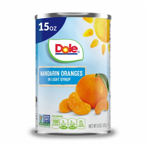 Dole Mandarin Oranges in Light Syrup Perspective: front