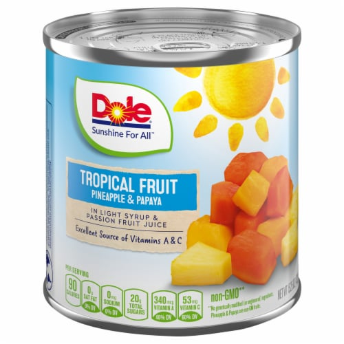 Dole Canned Tropical Fruit in Light Syrup & Passion Fruit Juice Perspective: front