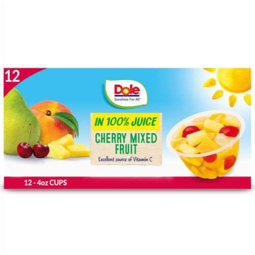 Dole® Cherry Mixed Fruit in 100% Fruit Juice Cups Perspective: front