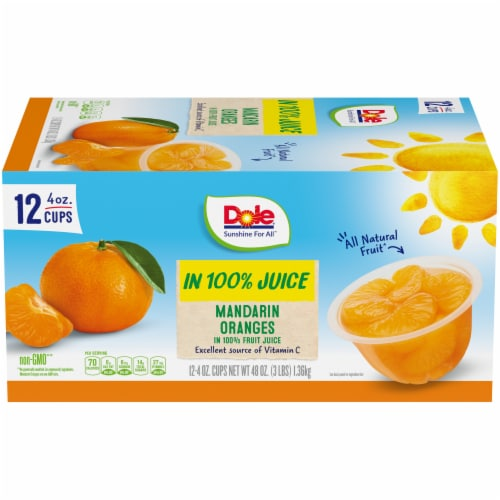 Dole Mandarin Oranges in 100% Fruit Juice Perspective: front