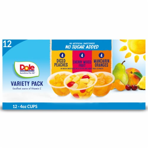 Dole No Sugar Fruit Cups Variety Pack Perspective: front