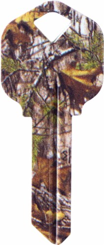 Realtree Camo Key Blank Perspective: front