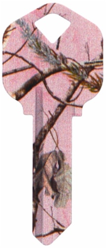 Realtree Camo Blank Key - Pink Perspective: front