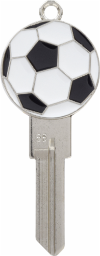 Hillman Soccer Ball Key Blank Perspective: front