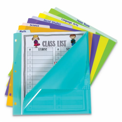 C-Line Index Dividers with Vertical Tab, 5-Tab, 11.5 X 10, Assorted, 1 Set 07150 Perspective: front