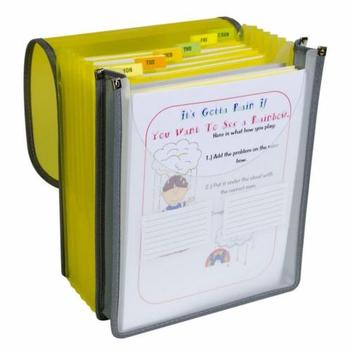 7-Pocket Vertical Backpack File, Letter Size Perspective: front