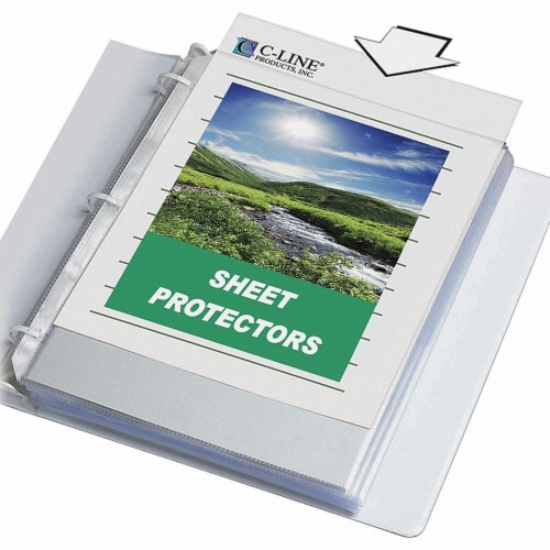 C-Line Products Specialty Sheet Protector,PK50  62607 Perspective: front