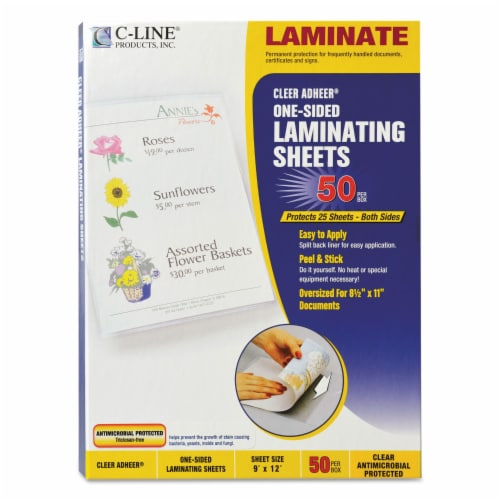 C-Line Sheet,Lam,Antimcbl,50,Clr 65009 Perspective: front
