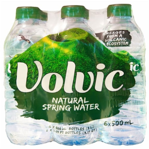 Volvic Natural Spring Water Perspective: front