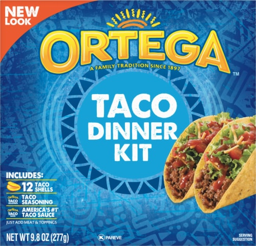Ortega Taco Dinner Kit 12 Count Perspective: front