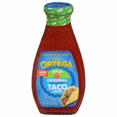 Ortega Thick & Smooth Mild Taco Sauce Perspective: front