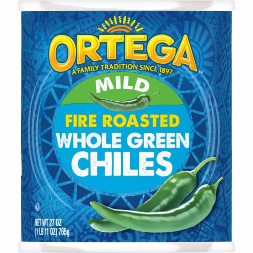 Ortega Whole Green Chiles Perspective: front