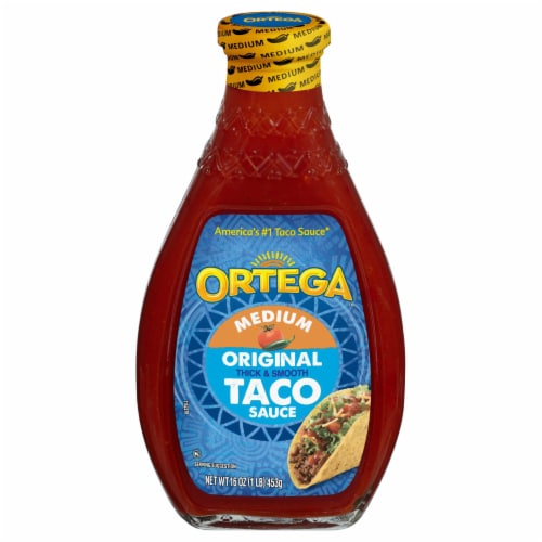 Ortega Original Thick & Smooth Medium Taco Sauce Perspective: front