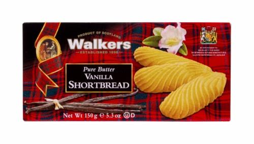 Walkers Pure Butter Vanilla Shortbread Cookies Perspective: front