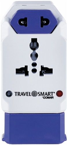 Conair Travel Smart All-In-One Adapter with USB Perspective: front