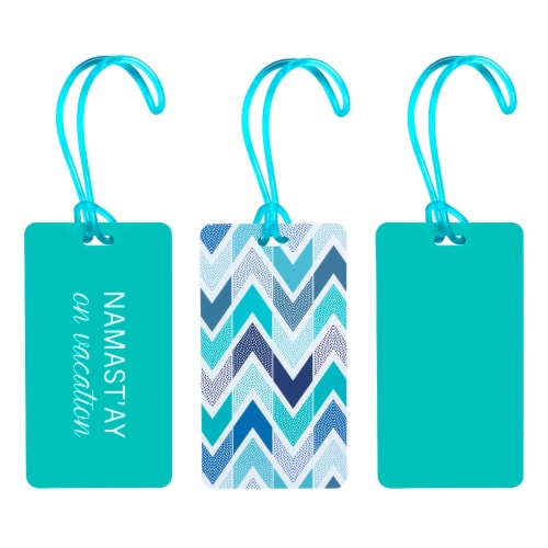 Travel Smart Plastic Luggage Tag - Turquoise Perspective: front