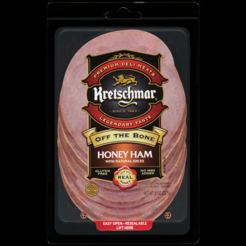 Kretschmar Off the Bone Honey Ham Slices Perspective: front