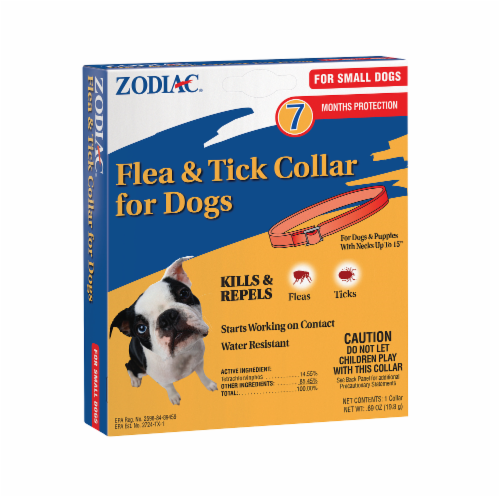 Zodiac Flea And Tick Collar Small Dogs Perspective: front