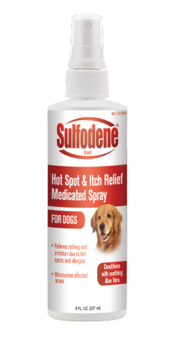 Sulfodene Hot Spot & Itch Relief Medicated Spray for Dogs Perspective: front