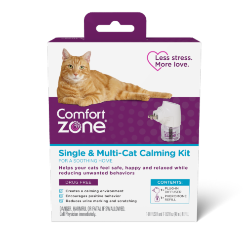 Comfort Zone Single and Multi-Cat Calming Kit Perspective: front