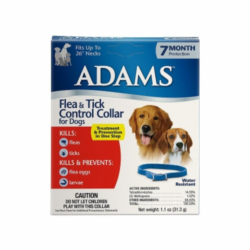 Adams Flea & Tick Control Collar For Dogs Perspective: front