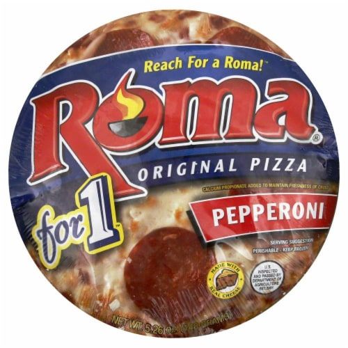 Roma Pepperoni Pizza For One Perspective: front