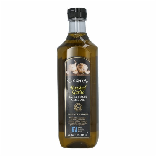 Colavita Roasted Garlic Extra Virgin Olive Oil Perspective: front