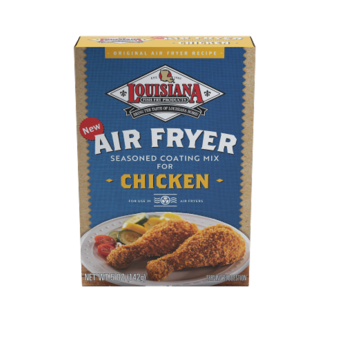 Louisiana Fish Fry Air Fryer Chicken Seasoned Coating Mix Perspective: front