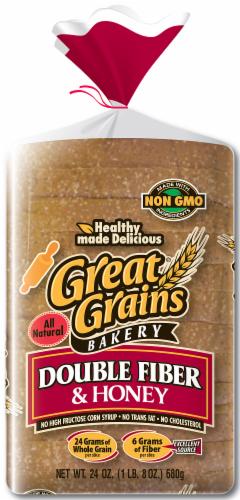 Great Grains Wide Pan Double Fiber Bread Perspective: front