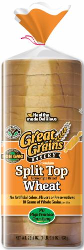 Great Grains Split Top Wheat Bread Perspective: front