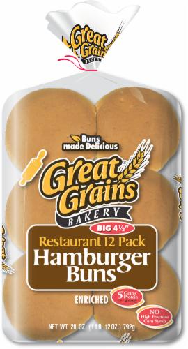Great Grains Buns Hamburger Sesame Perspective: front