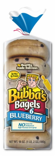 Bubba's Sliced Blueberry Bagels Perspective: front